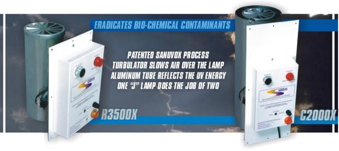 Sanuvox r3500x c2000x mold mildew sick building syndrome for X uv cuisine